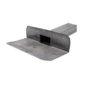Regenwasserablauf aus Blei im 60-80 x 31 cm Format mit 90˚ Auslaufwinkel