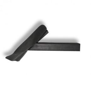 EPDM Flachdachgully 60x80 mm mit Flansch (Rohrlänge 50 cm, 45° Neigung)