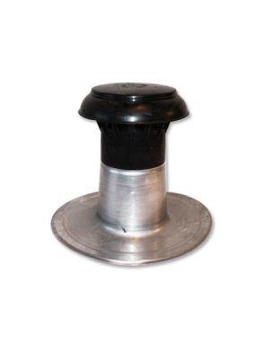Aluminium Entlüftung Ø 70-80 mm doppelwandig mit Kappe